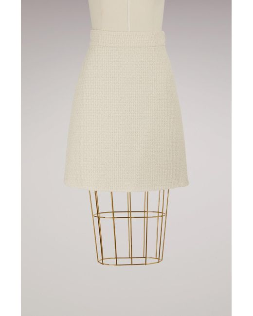 Gucci | Multicolor A-line Light Tweed Skirt | Lyst