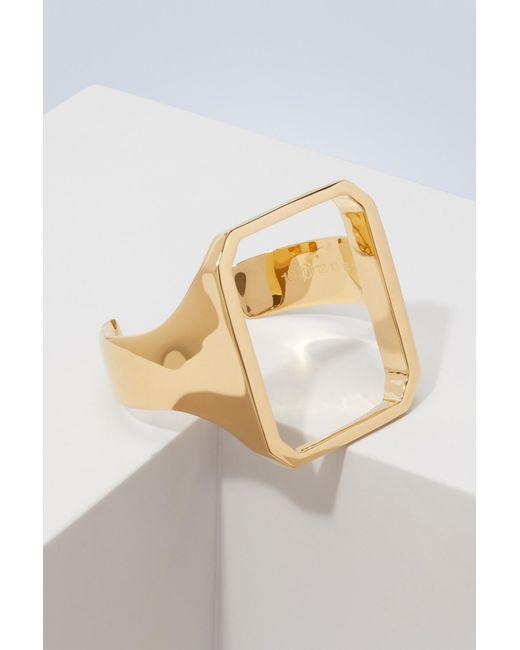 Maison Margiela - Metallic Cut-out Bracelet - Lyst