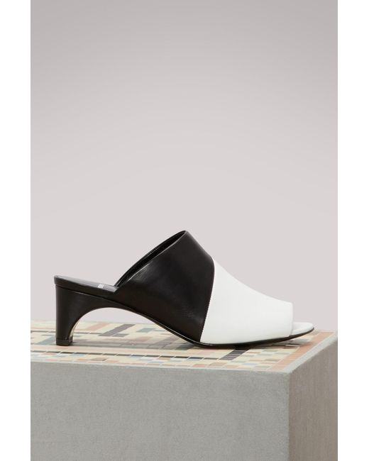 Pierre Hardy - Black Leather Heeled Mules - Lyst
