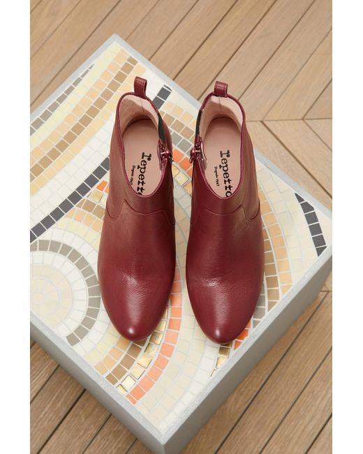 Repetto | Red Gwenole Boots With Heels | Lyst