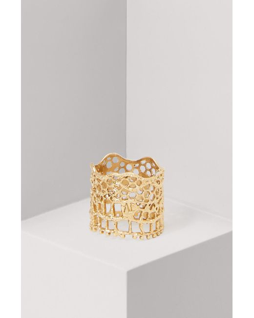 Aurelie Bidermann - Metallic Lace Ring - Lyst