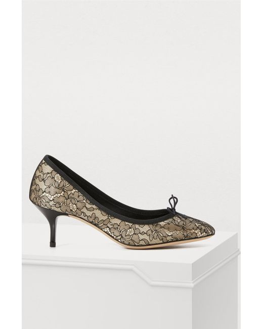 Repetto - Black Gisèle Heeled Ballet Flats - Lyst