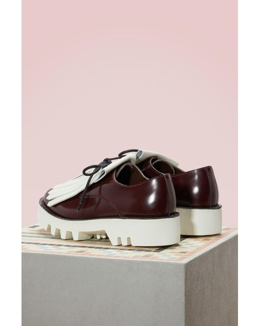 SOFIE D'HOORE Bicolor brogues with fringes