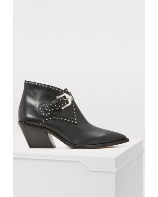 beb2c61c6f88 Lyst - Givenchy Elegant Studs Cowboy Ankle Boots in Black - Save 42%
