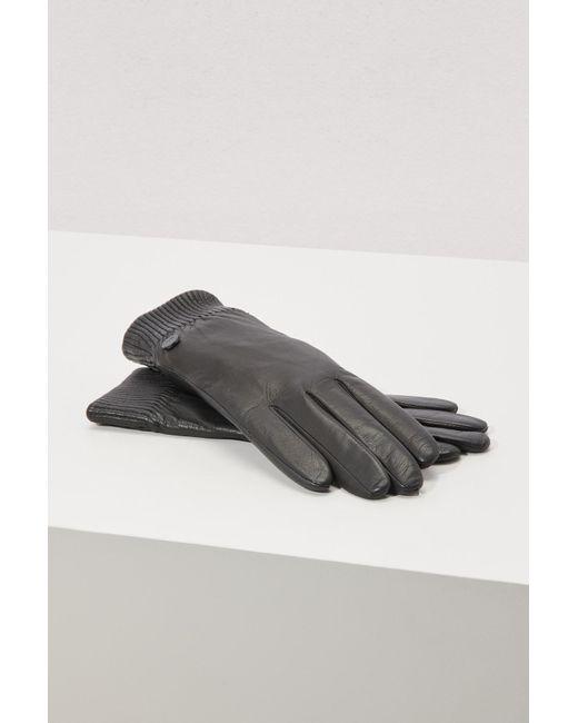 Canada Goose - Black Leather Rib Glove - Lyst