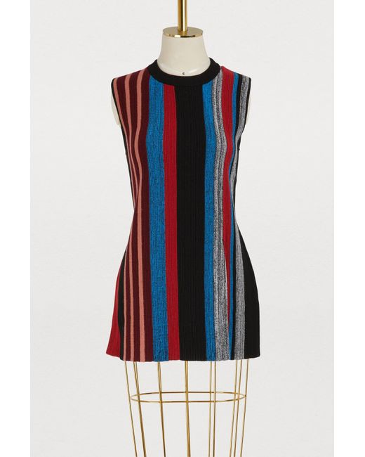 4f8a2f6bce568c Proenza Schouler - Multicolor Wool And Silk Top - Lyst ...
