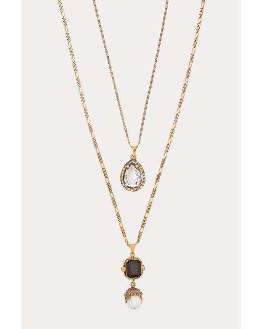 Alexander McQueen - Metallic Duo Pendant Necklace - Lyst