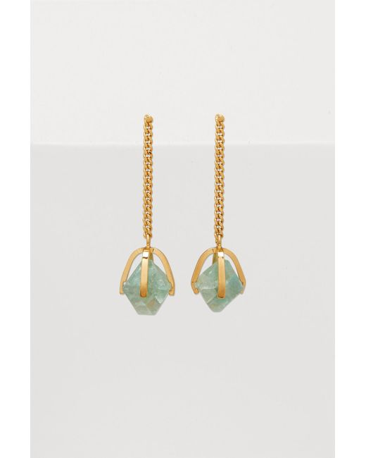 Jil Sander - Metallic Quartz Earrings - Lyst