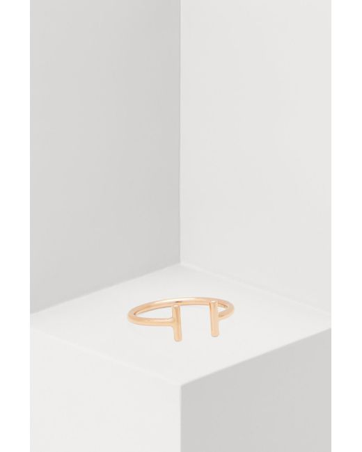 Ginette NY - Multicolor Gold Strip Open Ring - Lyst