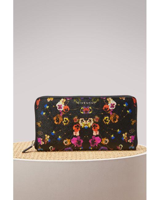 Givenchy Pansies Zip Wallet Best Place Cheap Online Cheap Sale Explore Cheap Sale Find Great ukh4WVoi