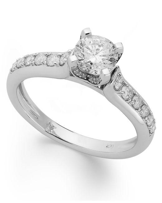 Macy's Diamond Engagement Ring In 14k White Gold Or 14k