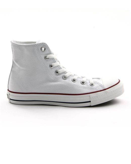 converse all white canvas sneakers in white for