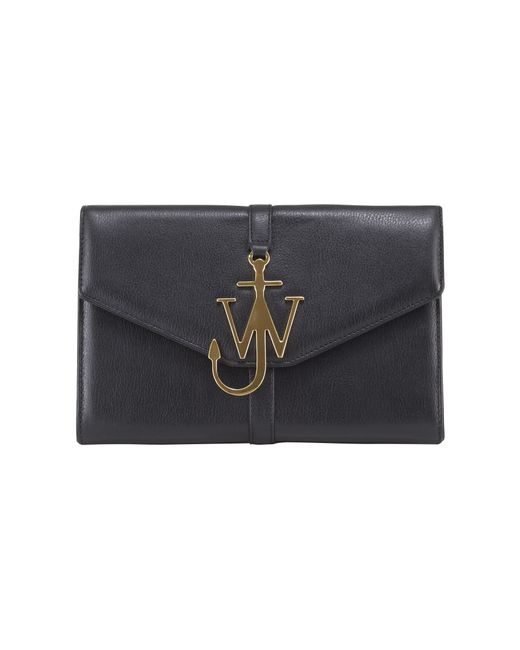 J.W. Anderson | Black Monogram Leather Shoulder Bag | Lyst