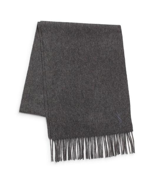 Saint Laurent   Gray Wool & Cashmere Scarf for Men   Lyst