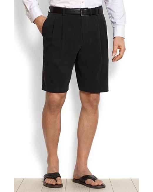 Tommy Bahama | Black 'st. Thomas' Pleated Shorts for Men | Lyst