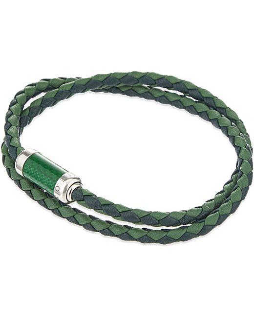 Tateossian | Green Montecarlo Woven Leather Bracelet for Men | Lyst