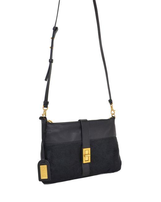 Badgley Mischka | Black Anabelle Nappa/haircalf Handbag | Lyst