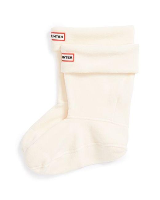 Hunter | Natural Short Fleece Welly Boot Socks | Lyst