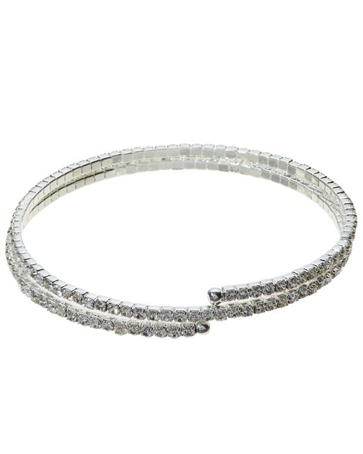John Lewis | Metallic Skinny Double Row Diamante Bracelet | Lyst
