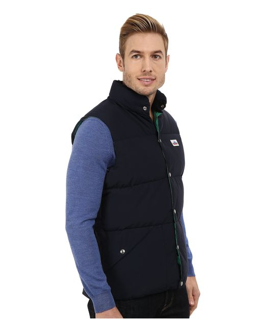 Penfield | Blue Outback Down Vest for Men | Lyst