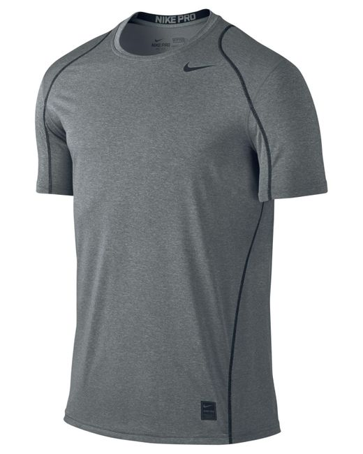 nike men 39 s pro cool fitted dri fit shirt in black for men