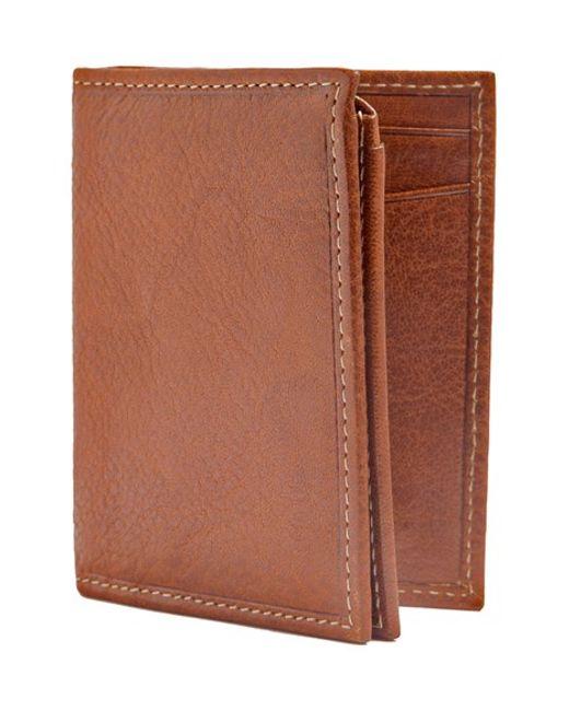 Trafalgar | Brown 'hawthorne' L-fold Wallet for Men | Lyst