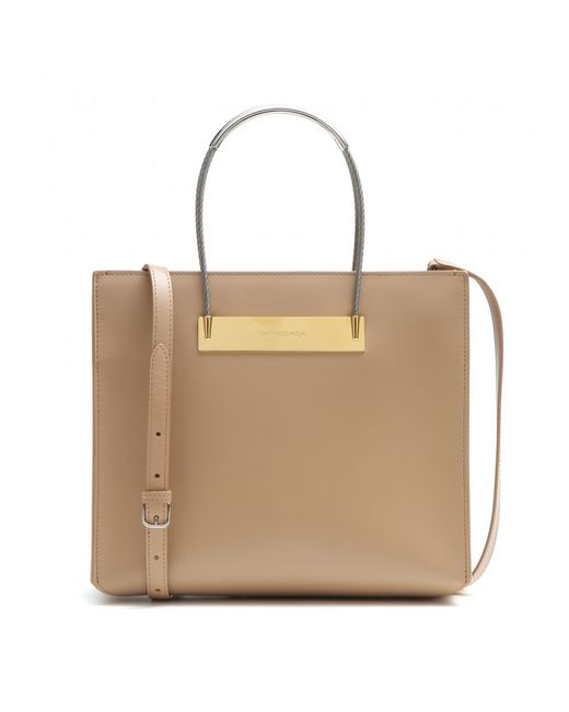 Balenciaga | Natural Cable Shopper Small Leather Tote | Lyst