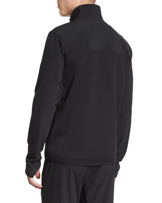 Theory Zip Front Long Sleeve Track Jacket In Black For Men