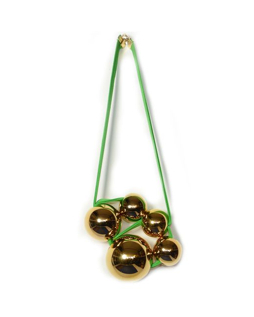 Marion Vidal | Green And Gold Necklace | Lyst
