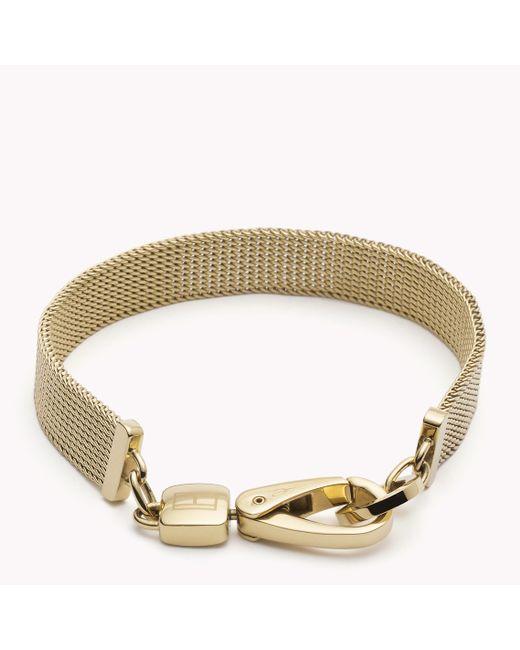 Tommy Hilfiger | Metallic Mesh Bracelet | Lyst