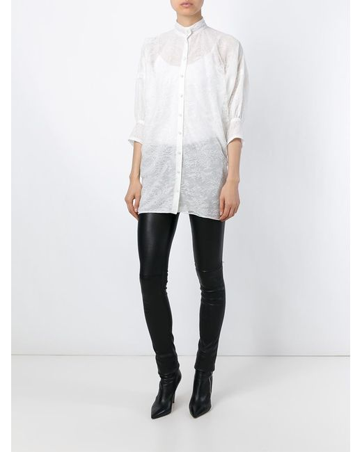 Givenchy | White Pussy Bow Blouse | Lyst
