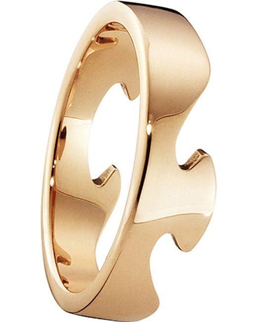 Georg Jensen   Metallic Fusion End 18ct Rose-gold Ring   Lyst