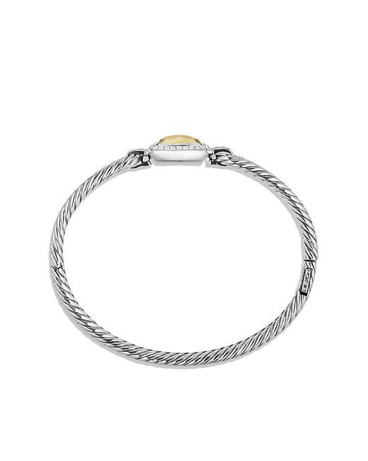 David Yurman | Metallic Albion Bracelet With Diamonds And 18k Gold, 6mm | Lyst