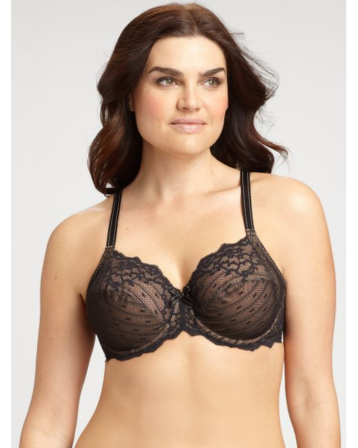 Chantelle | Black Rive Gauche Three-part Cup Bra | Lyst