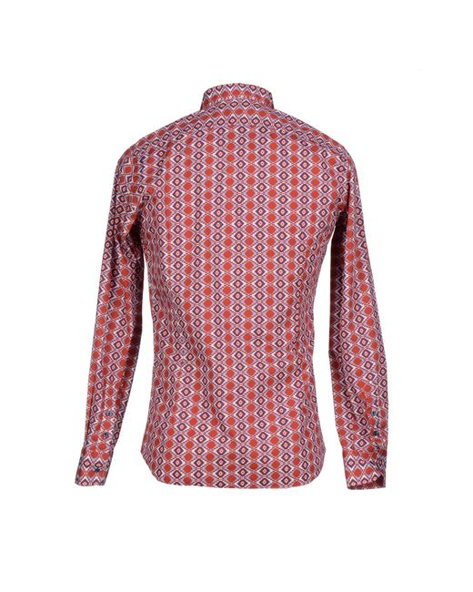 Aglini | Red Shirt for Men | Lyst