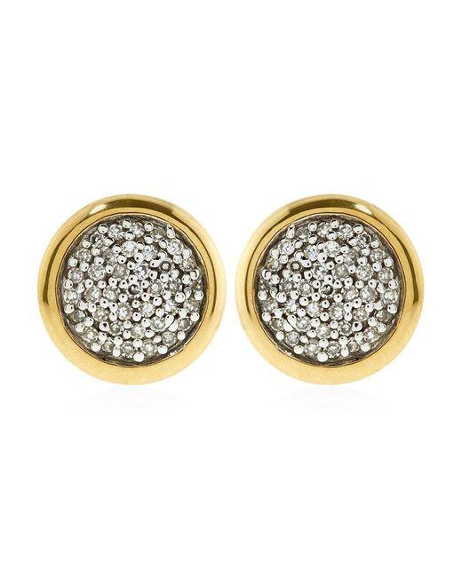 Links of London | Yellow Diamond Essentials Pave Round Stud Earrings | Lyst