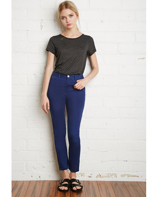Forever 21   Blue Skinny Ankle Jeans   Lyst