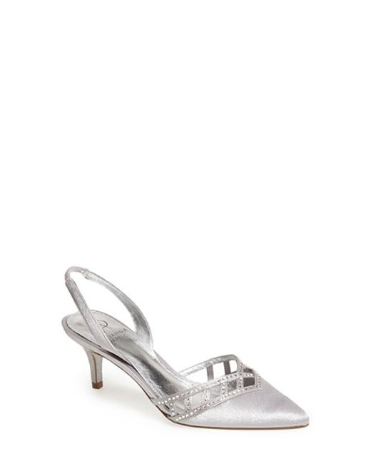 Adrianna Papell | Metallic 'haven' Pointy Toe Pump | Lyst