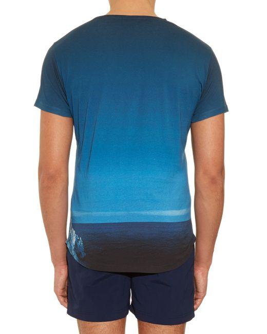 Orlebar Brown   Blue Ob T Sky Diver Jersey T-Shirt for Men   Lyst