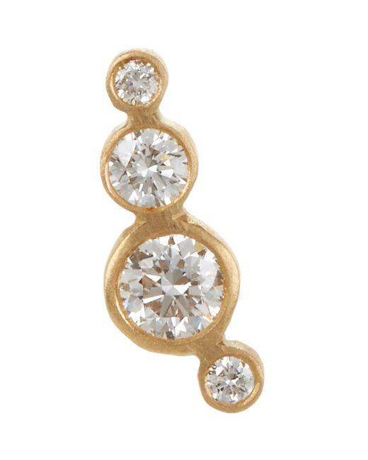 Sophie Bille Brahe   Metallic Flacon Diamant Stud Earring   Lyst