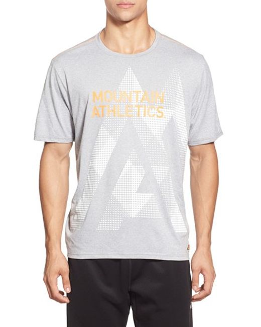 The North Face | Gray 'reaxion' Graphic Short Sleeve T-shirt for Men | Lyst
