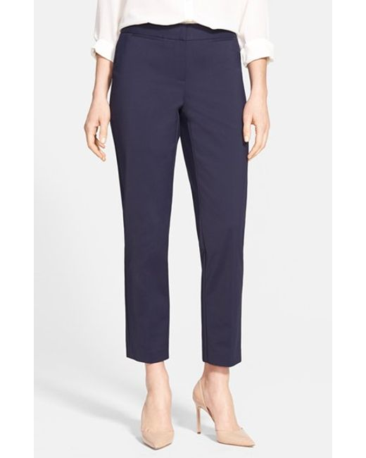 Nordstrom Collection | Blue 'veloria' Slim Ankle Pants | Lyst