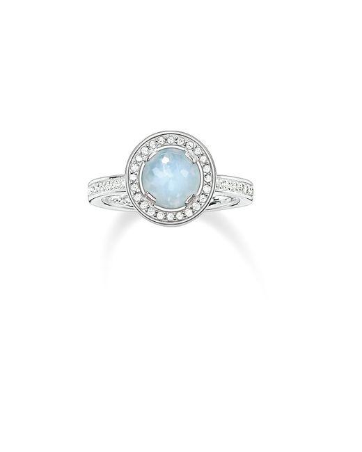 Thomas Sabo | Blue Light Of Luna Milky Aqua Eternity Ring | Lyst