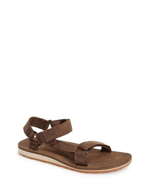 Teva | Black 'original Universal' Leather Sandal for Men | Lyst