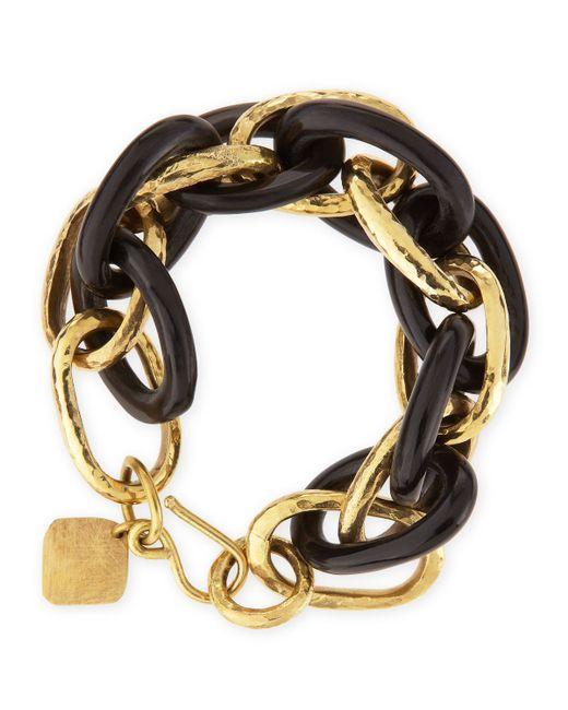 Ashley Pittman | Metallic Ndovu Dark Horn & Bronze Bracelet | Lyst