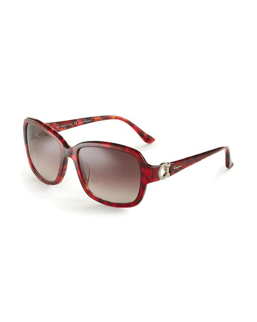 Ferragamo | Red Tortoise Shell Sunglasses | Lyst