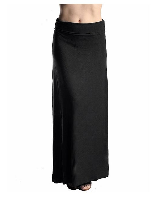 trend solid knit maxi skirt in black save 69 lyst