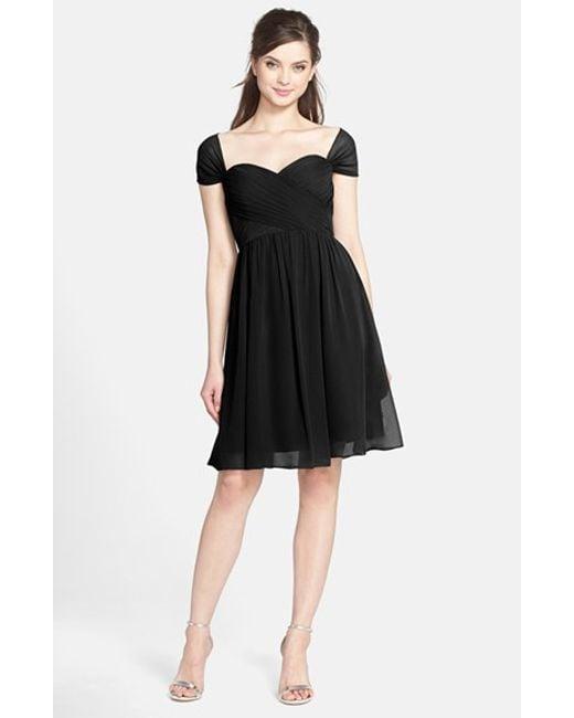 Chiffon Infinity Dress: Jenny Yoo 'riley' Convertible Chiffon Dress In Black