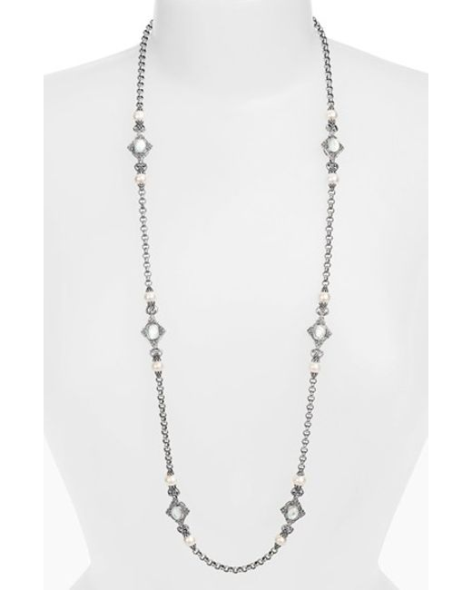 Konstantino | Metallic 'selene' Long Station Necklace | Lyst