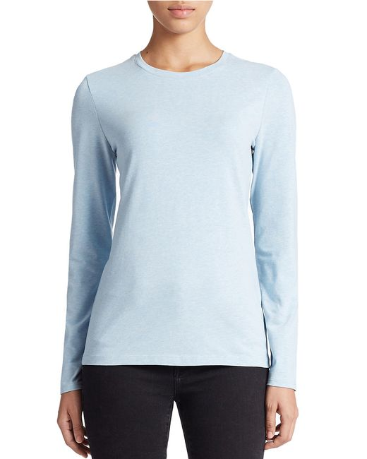 Lord & Taylor | Blue Petite Stretch-cotton Crewneck Tee | Lyst